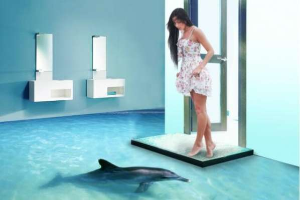 Des Dauphins Dans Votre Salle De Bain Grace A Un Plancher En 3d