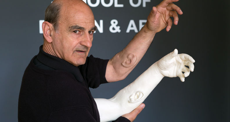 stelarc essay The surgery involved an ear being created on stelarc's left forearm  joanna  zylinska states in the exhibition catalogue essay: what sellars therefore offers  us.