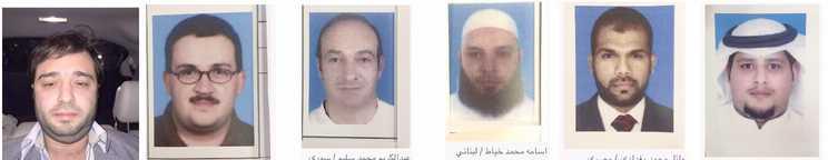 Les 6 membres de Daesh arrêtés au Kuwait.