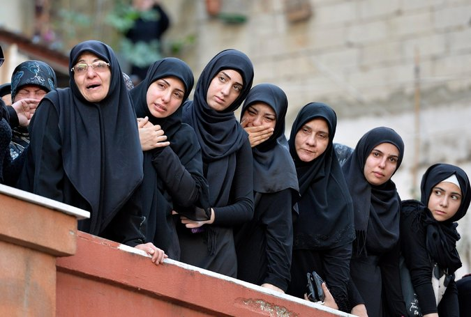 Le deuil des libanais après l'attaque sur Beyrouth