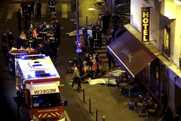 Vue d'ensemble sur l'un des attentats qui a frappé Paris