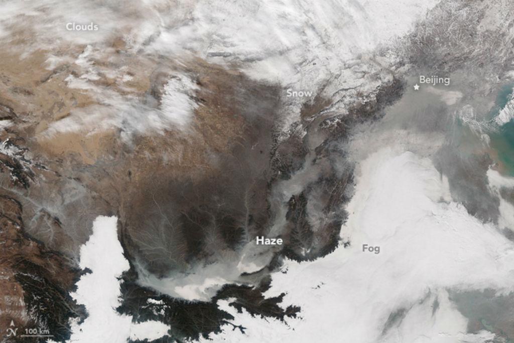 Une image montrant l'ampleur de la pollution en Chine